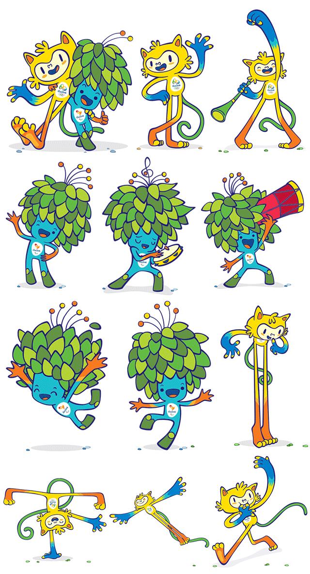【广州吉祥物设计】2016年里约奥运会和残奥会吉祥物