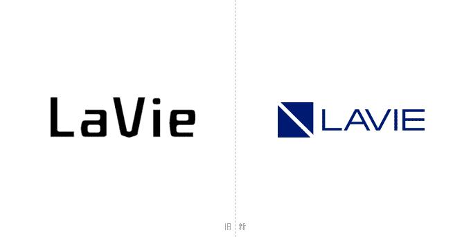 NEC笔记本电脑LAVIE系列新旧Logo设计对比